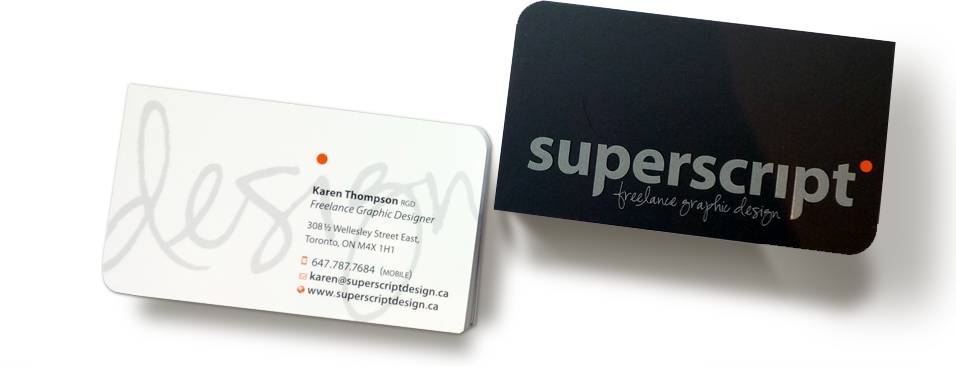 Business Cards on white